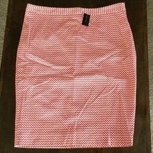 NWT Limited Red Chevron Pencil Skirt